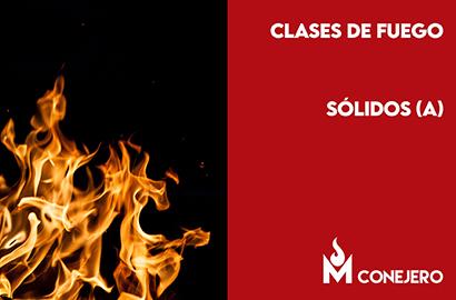 Clases de fuego según la naturaleza del combustible: Sólidos (Clase A)