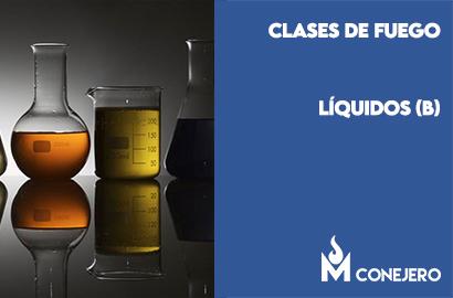 Clases de fuego según la naturaleza del combustible: Líquidos (Clase B)