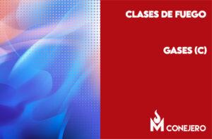 Clases de fuego según la naturaleza del combustible: Gases (Clase C)
