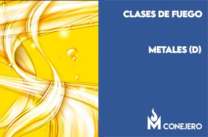 Clases de fuego según la naturaleza del combustible: Metales (Clase D)