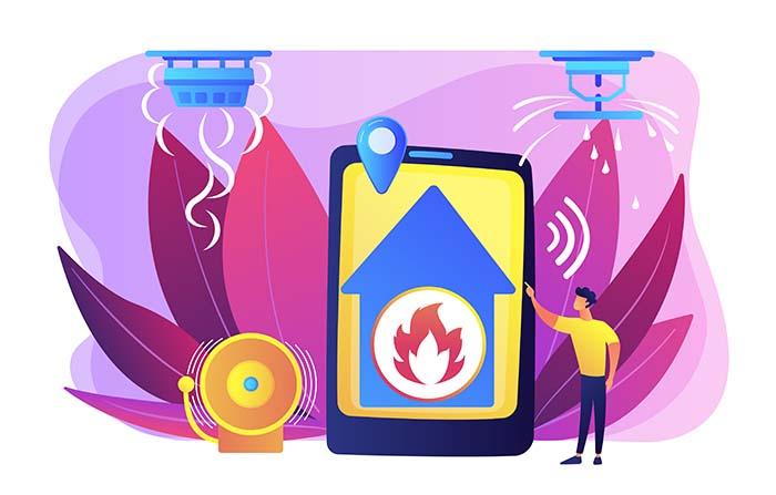 Rociadores (1) para la prevención contra incendios en espacios comunes